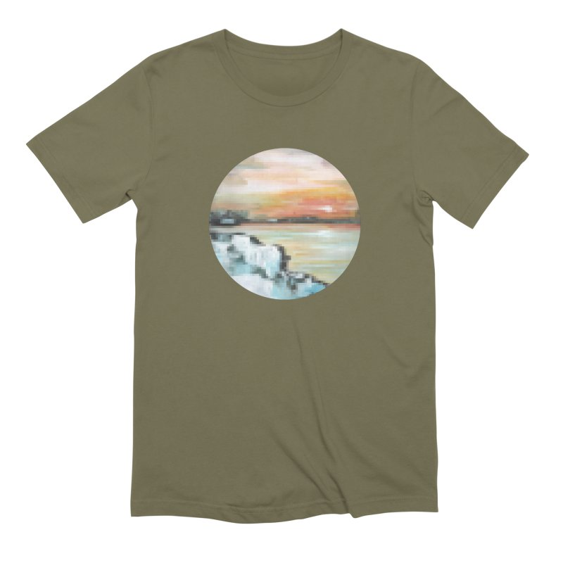 Ice Pixel Planet Men's Extra Soft T-Shirt by Cory & Mike's Artist Shop
