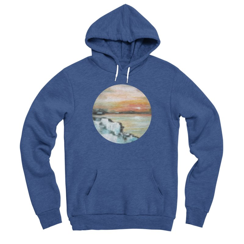 Ice Pixel Planet Men's Sponge Fleece Pullover Hoody by Cory & Mike's Artist Shop