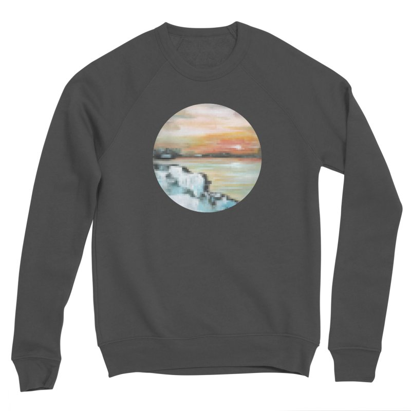Ice Pixel Planet Men's Sponge Fleece Sweatshirt by Cory & Mike's Artist Shop