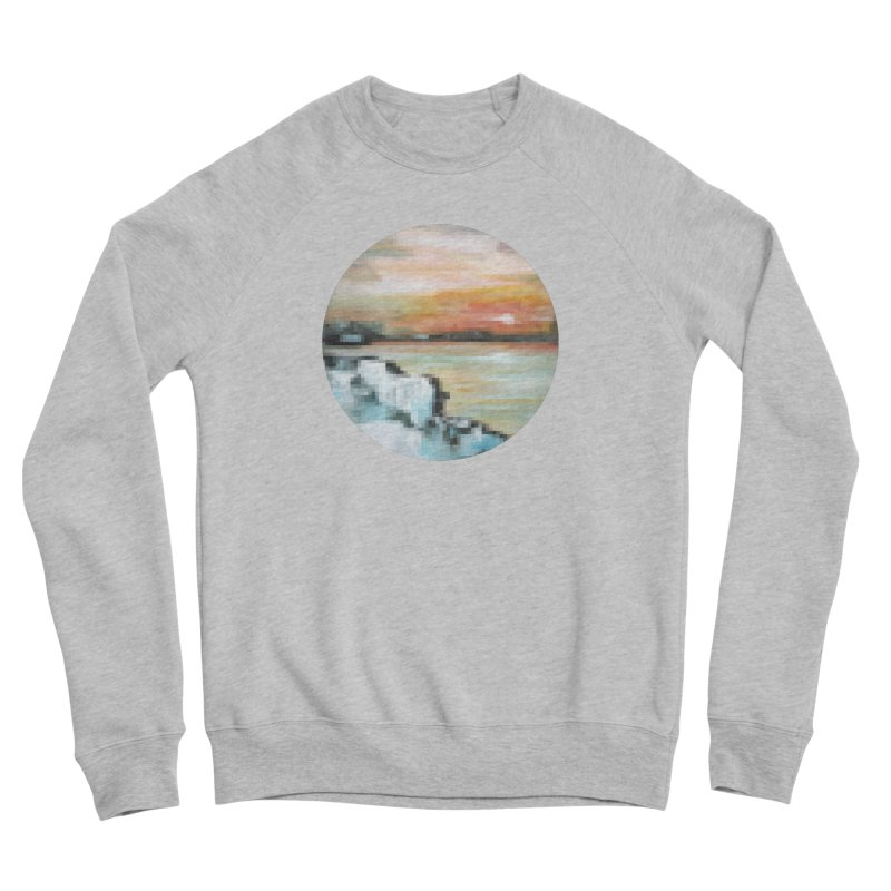 Ice Pixel Planet Women's Sponge Fleece Sweatshirt by Cory & Mike's Artist Shop