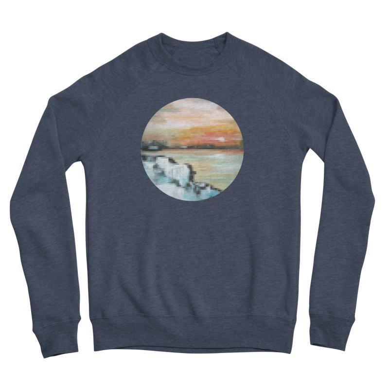 Ice Pixel Planet Men's Sponge Fleece Sweatshirt by Cory & Mike's Artist Shop