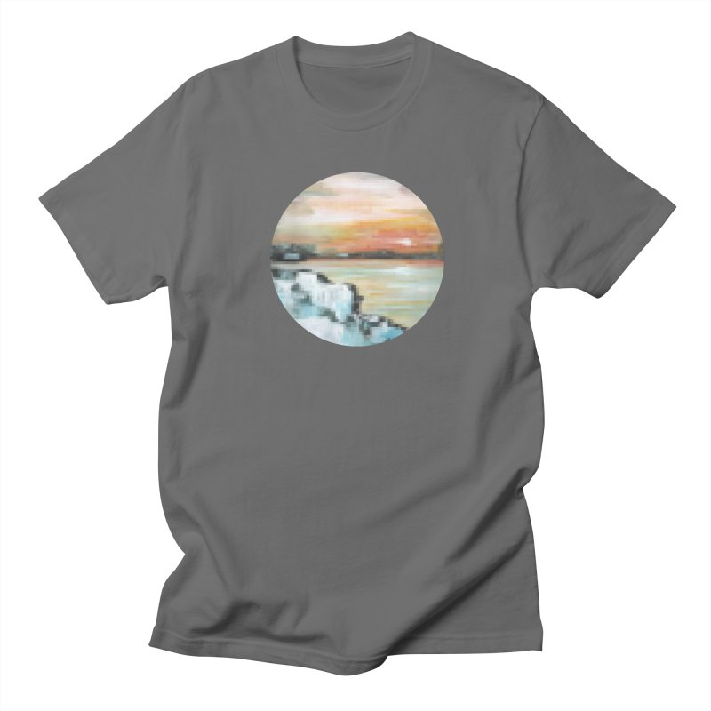 Ice Pixel Planet Men's T-Shirt by Cory & Mike's Artist Shop