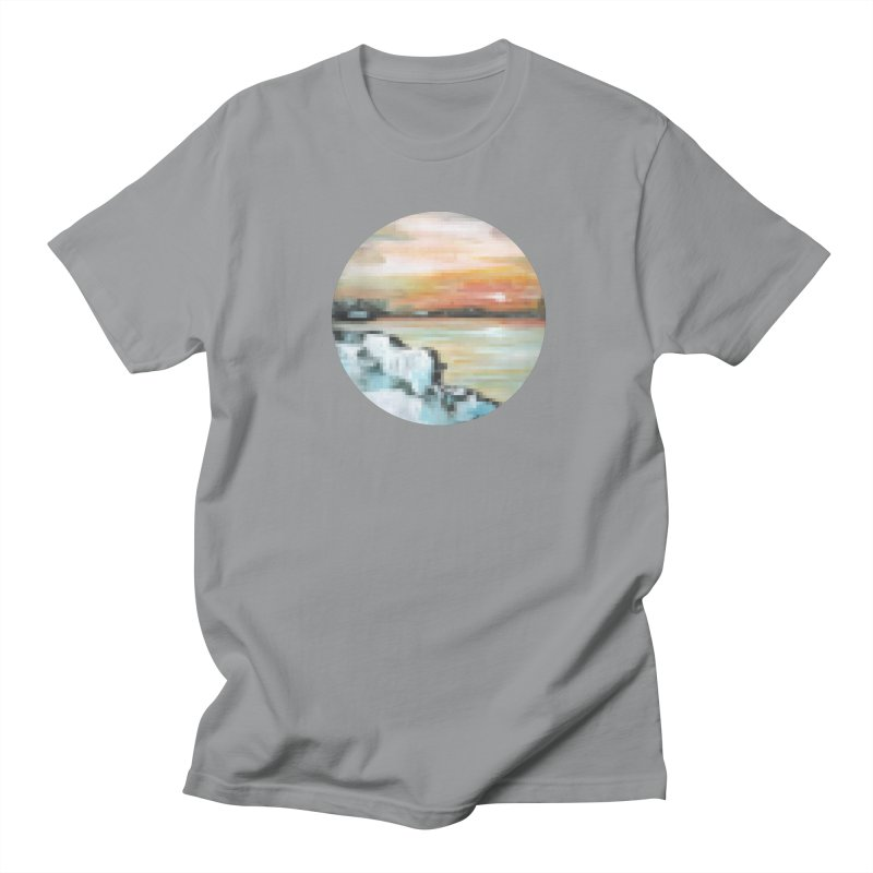 Ice Pixel Planet Women's Regular Unisex T-Shirt by Cory & Mike's Artist Shop