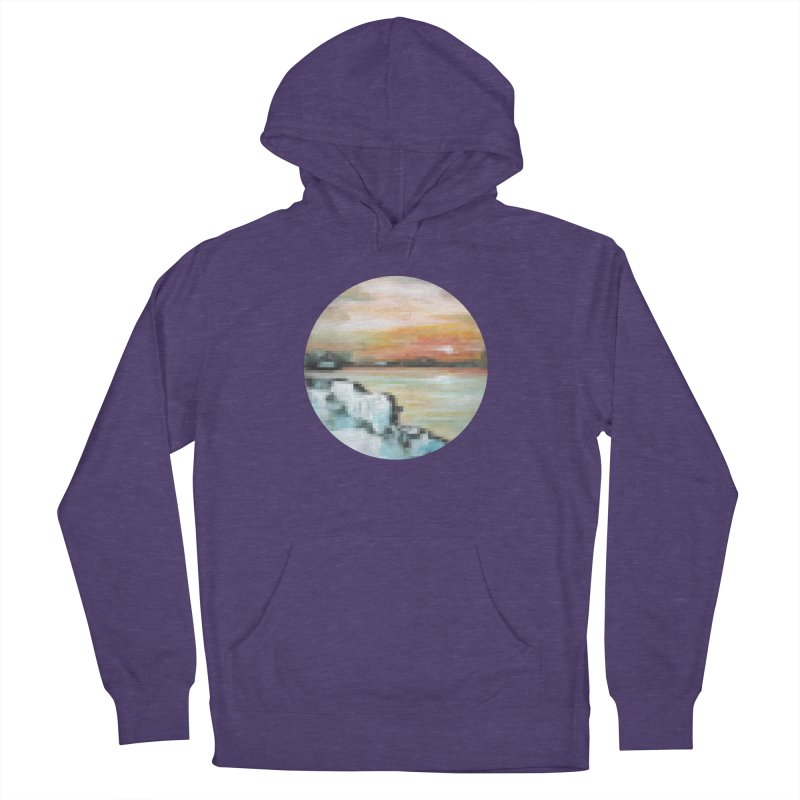 Ice Pixel Planet Women's French Terry Pullover Hoody by Cory & Mike's Artist Shop