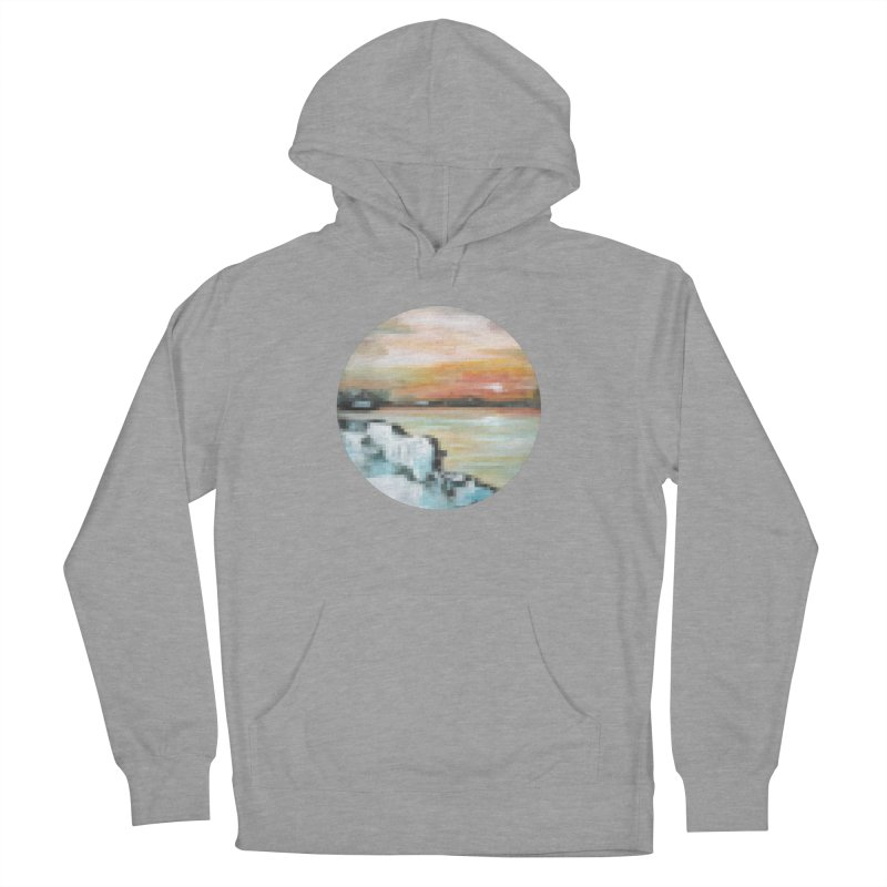 Ice Pixel Planet Men's French Terry Pullover Hoody by Cory & Mike's Artist Shop