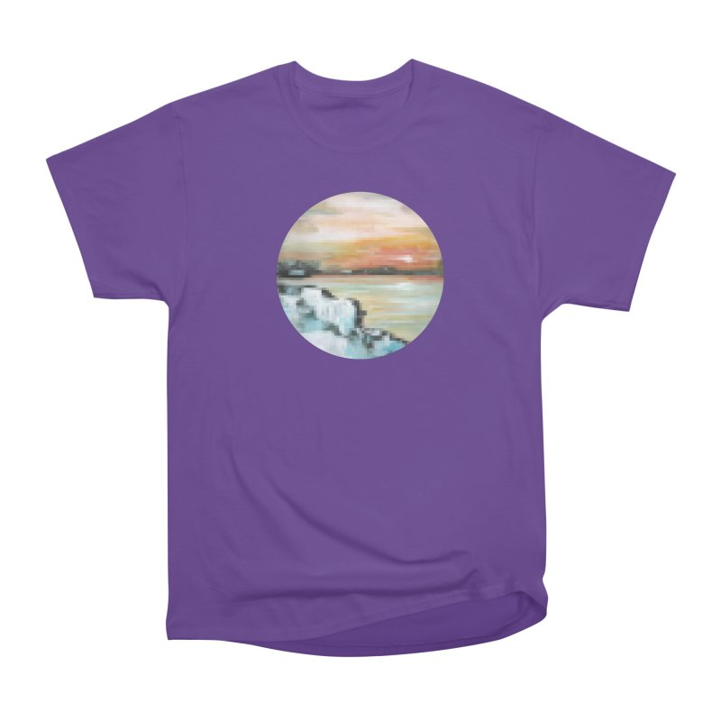 Ice Pixel Planet Men's Heavyweight T-Shirt by Cory & Mike's Artist Shop