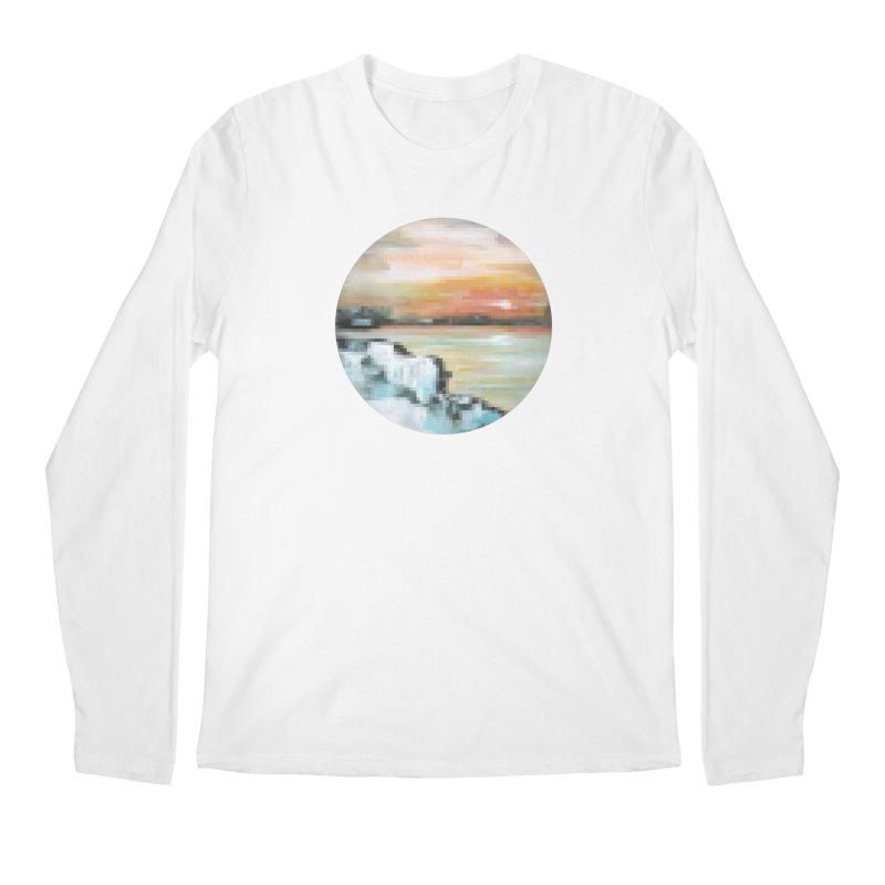 Ice Pixel Planet Men's Regular Longsleeve T-Shirt by Cory & Mike's Artist Shop