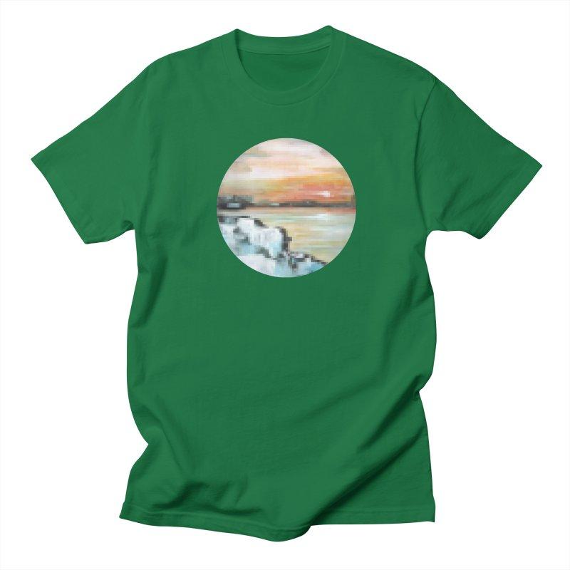 Ice Pixel Planet Women's Regular Unisex T-Shirt by Cory & Mike's Artist Shop