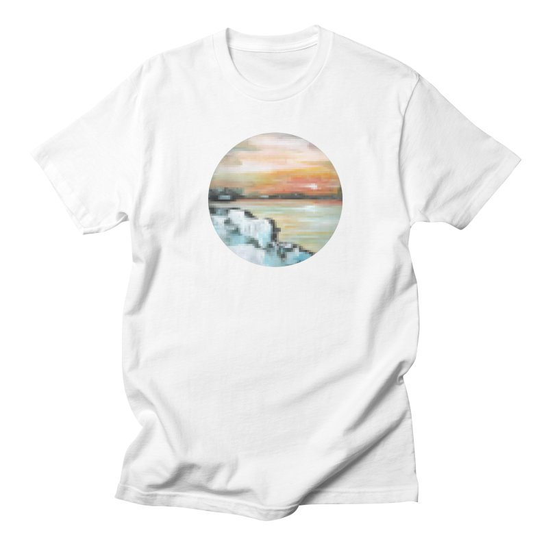 Ice Pixel Planet Men's Regular T-Shirt by Cory & Mike's Artist Shop