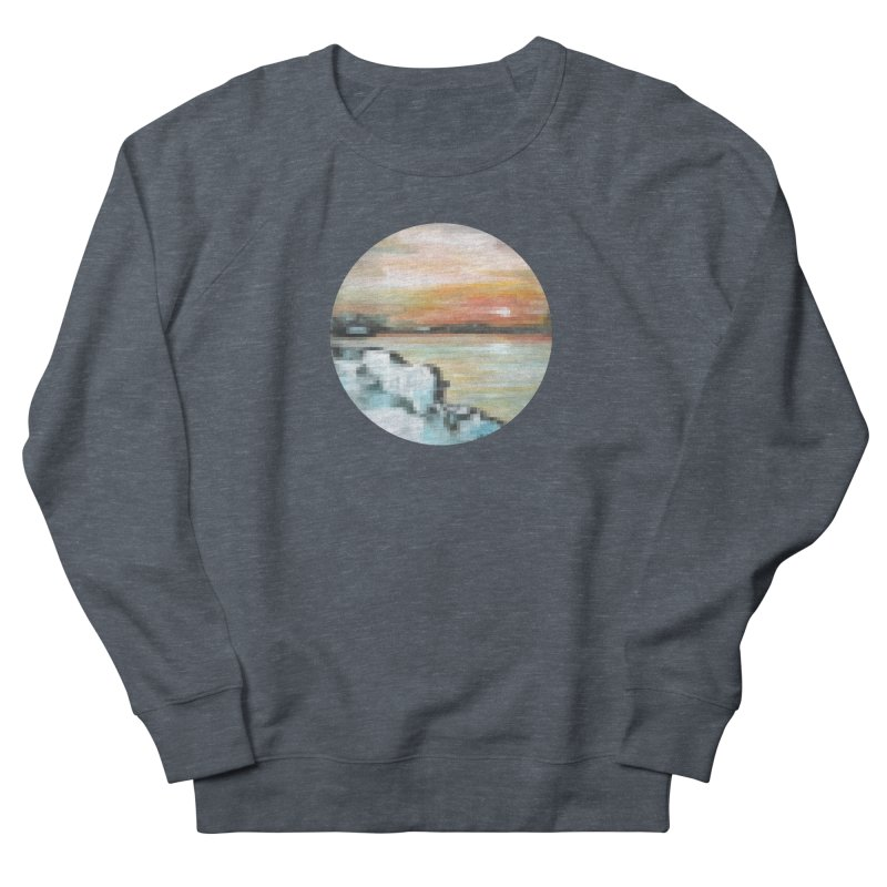Ice Pixel Planet Women's French Terry Sweatshirt by Cory & Mike's Artist Shop