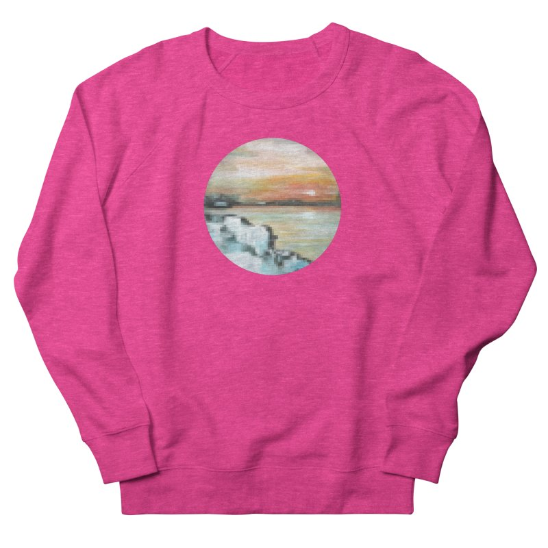 Ice Pixel Planet Men's French Terry Sweatshirt by Cory & Mike's Artist Shop