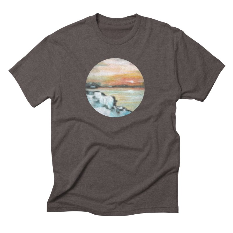 Ice Pixel Planet Men's Triblend T-Shirt by Cory & Mike's Artist Shop