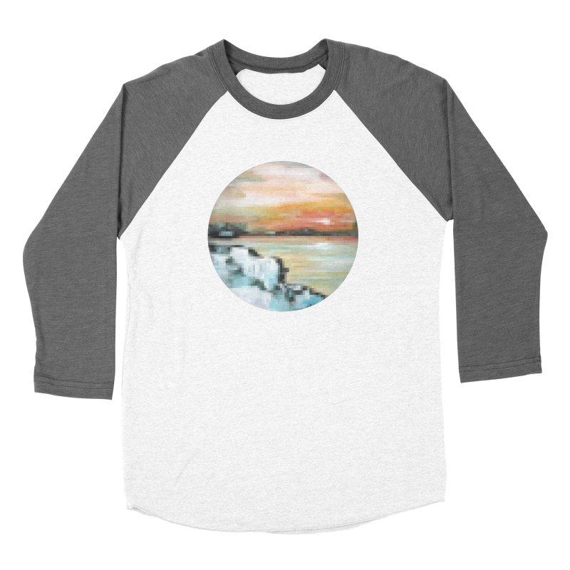 Ice Pixel Planet Women's Baseball Triblend Longsleeve T-Shirt by Cory & Mike's Artist Shop