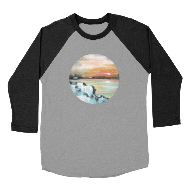 Ice Pixel Planet Men's Baseball Triblend Longsleeve T-Shirt by Cory & Mike's Artist Shop
