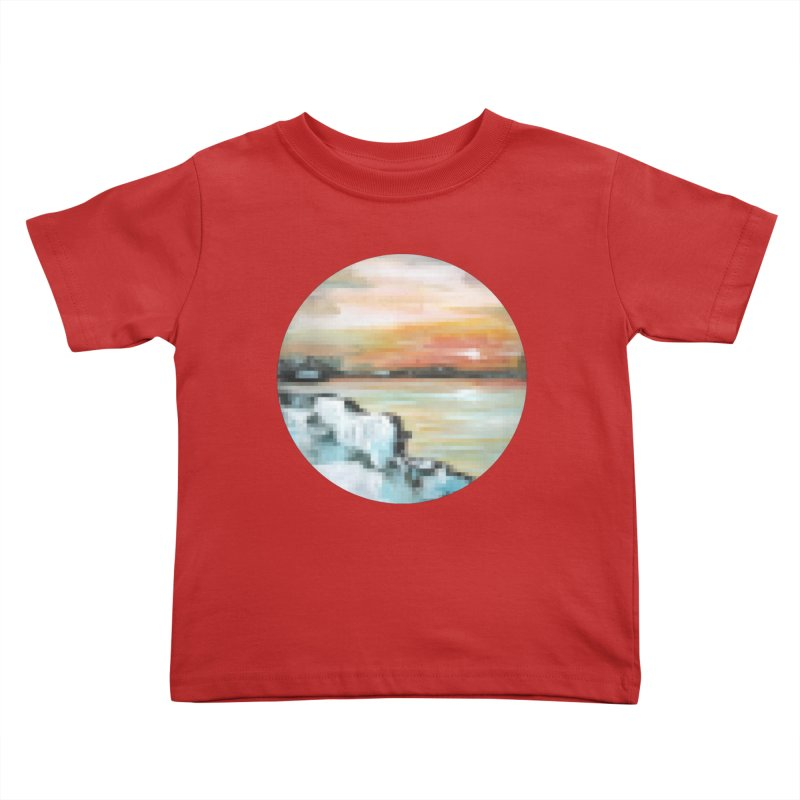 Ice Pixel Planet Kids Toddler T-Shirt by Cory & Mike's Artist Shop