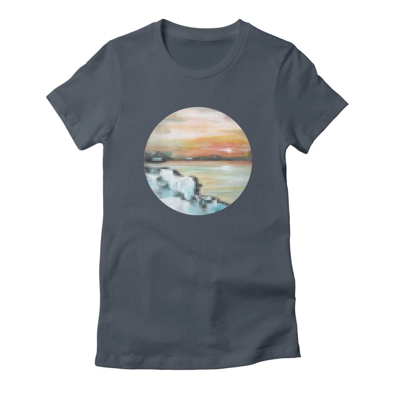 Ice Pixel Planet Women's T-Shirt by Cory & Mike's Artist Shop