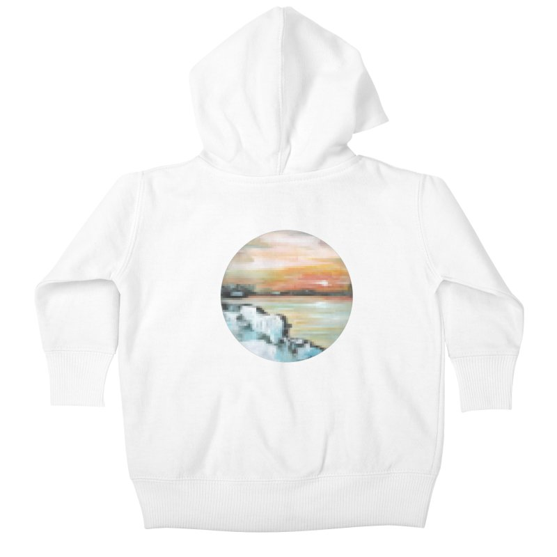 Ice Pixel Planet Kids Baby Zip-Up Hoody by Cory & Mike's Artist Shop