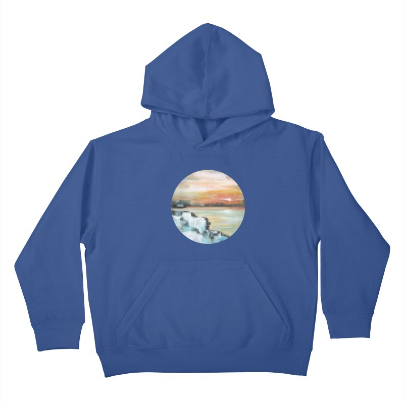 Ice Pixel Planet Kids Pullover Hoody by Cory & Mike's Artist Shop