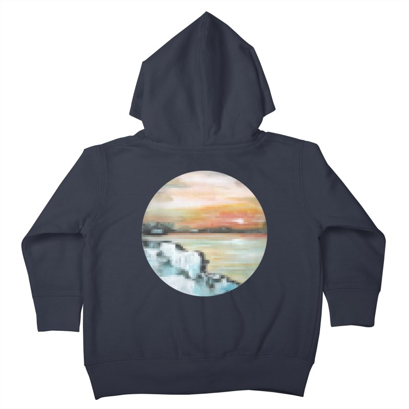 Ice Pixel Planet Kids Toddler Zip-Up Hoody by Cory & Mike's Artist Shop