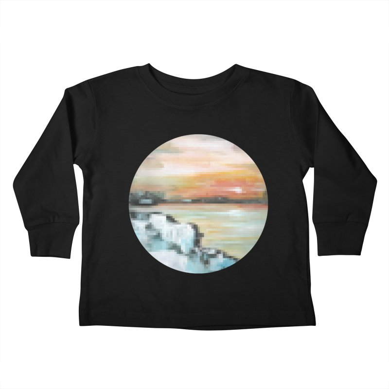 Ice Pixel Planet Kids Toddler Longsleeve T-Shirt by Cory & Mike's Artist Shop