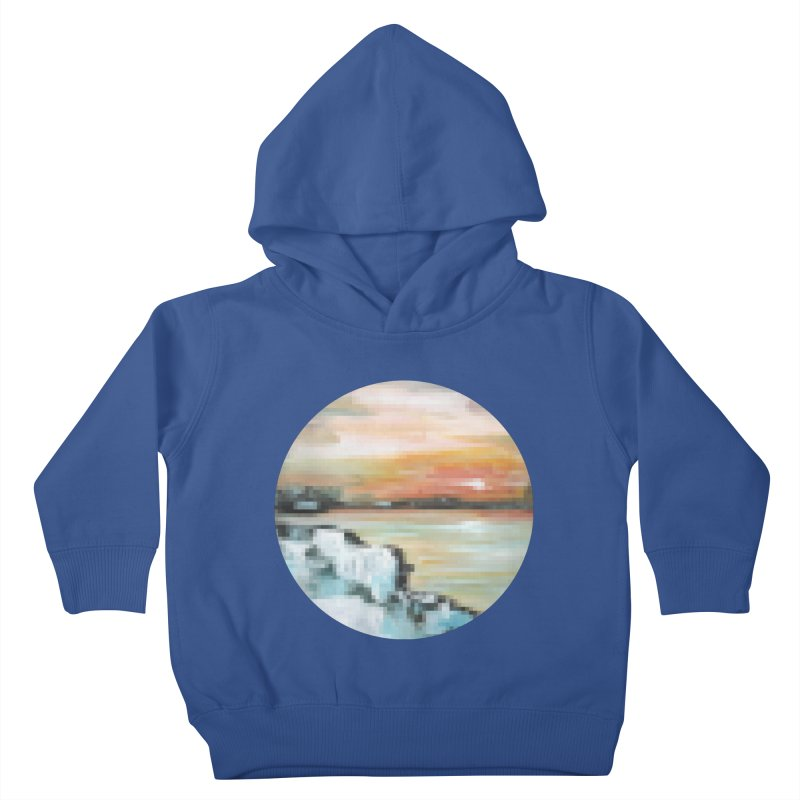 Ice Pixel Planet Kids Toddler Pullover Hoody by Cory & Mike's Artist Shop