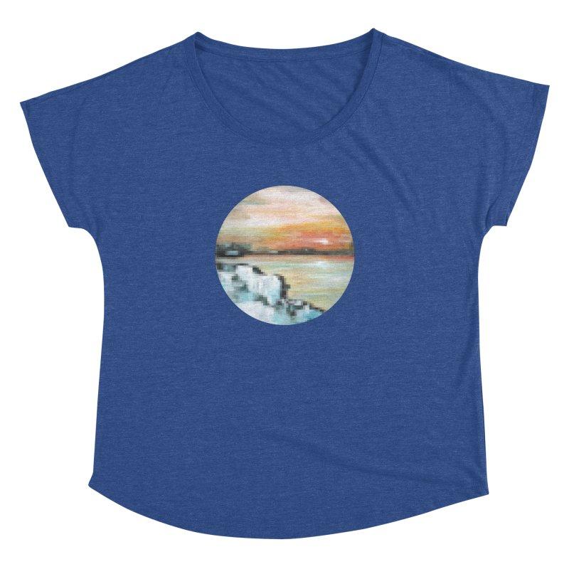 Ice Pixel Planet Women's Dolman Scoop Neck by Cory & Mike's Artist Shop