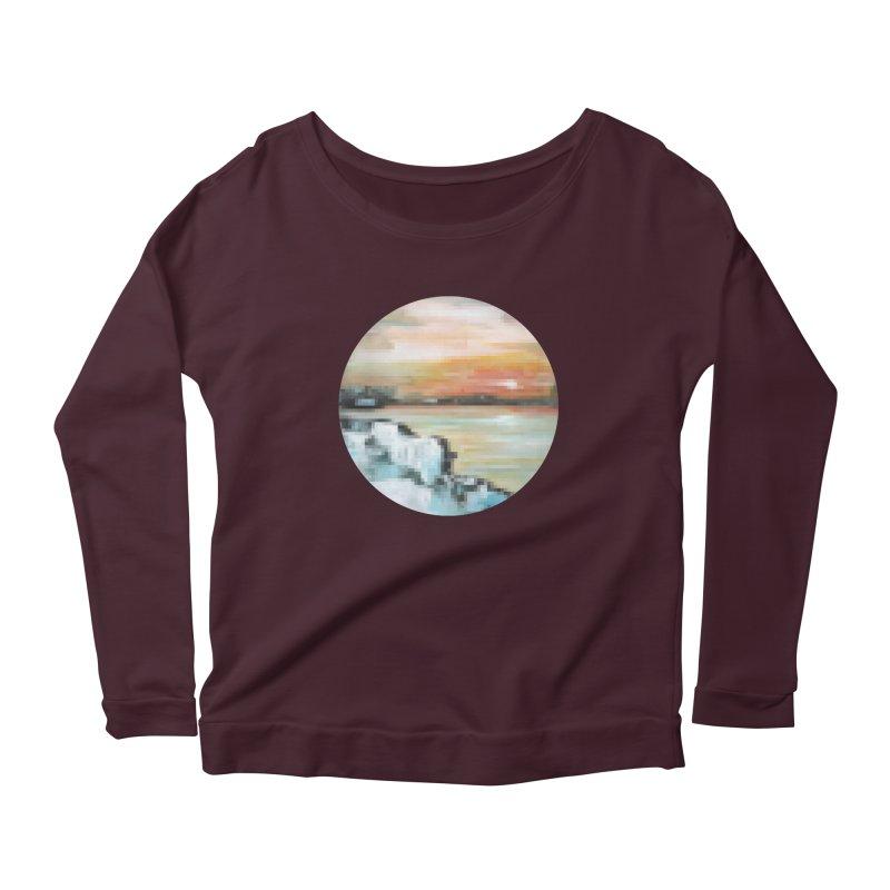 Ice Pixel Planet Women's Scoop Neck Longsleeve T-Shirt by Cory & Mike's Artist Shop