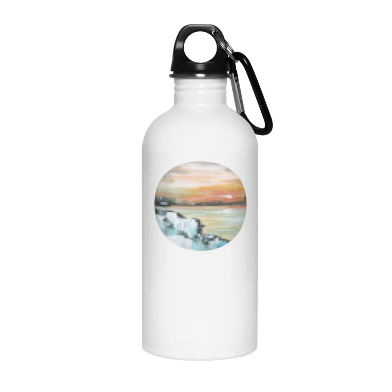 Ice Pixel Planet Accessories Water Bottle by Cory & Mike's Artist Shop