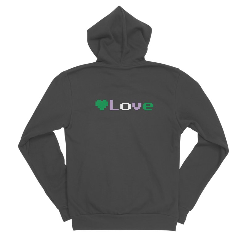 Genderqueer Love Women's Sponge Fleece Zip-Up Hoody by Cory & Mike's Artist Shop