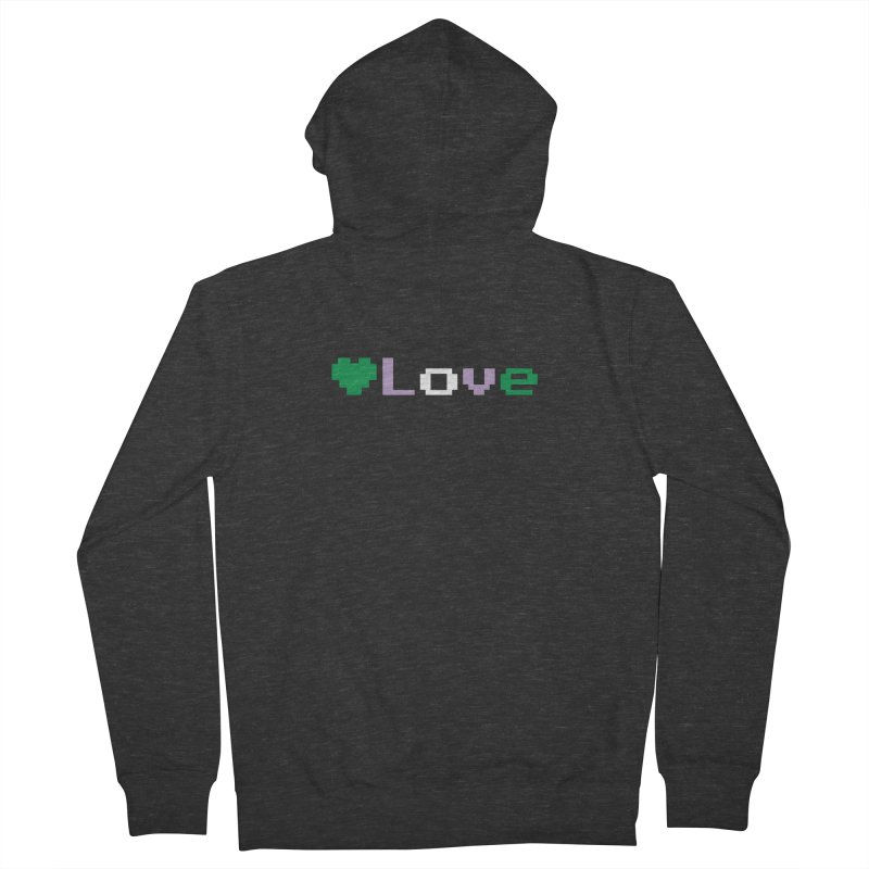 Genderqueer Love Men's French Terry Zip-Up Hoody by Cory & Mike's Artist Shop