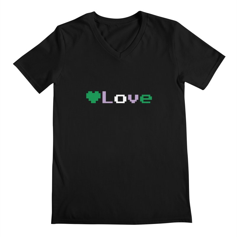 Genderqueer Love Men's Regular V-Neck by Cory & Mike's Artist Shop