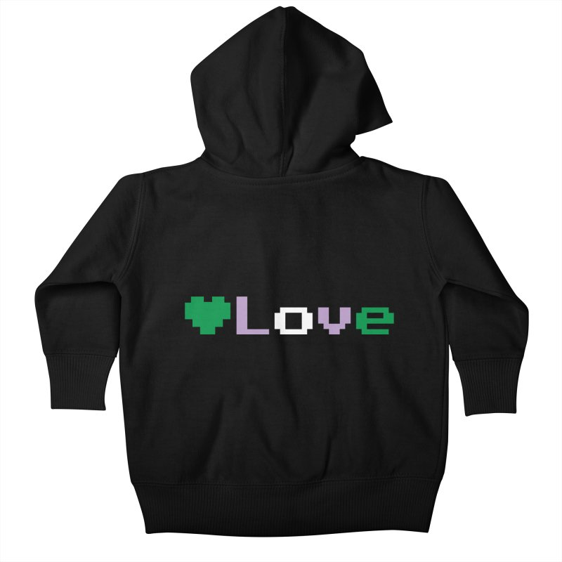 Genderqueer Love Kids Baby Zip-Up Hoody by Cory & Mike's Artist Shop