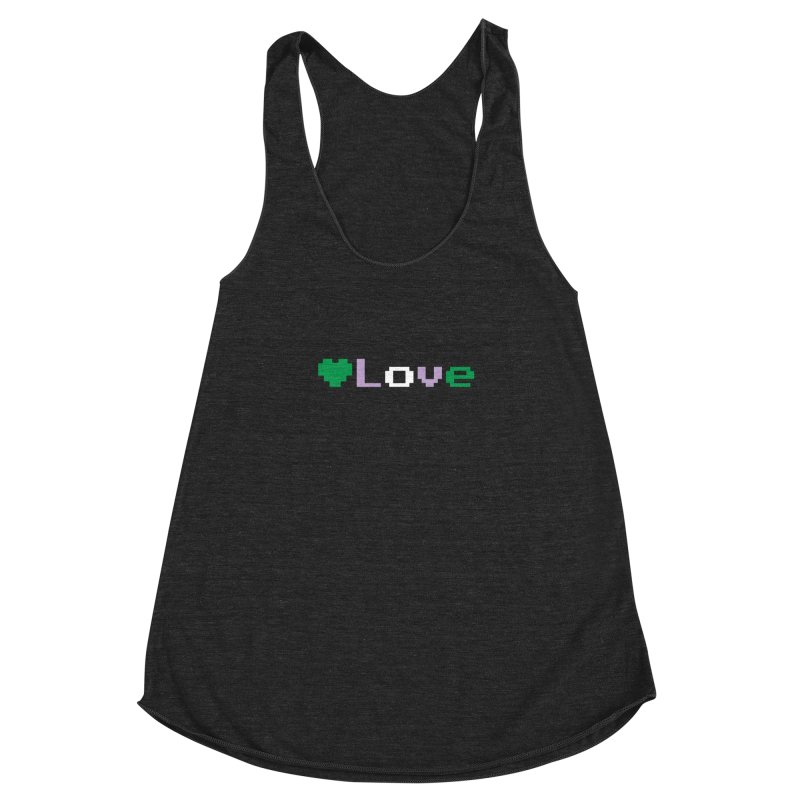 Genderqueer Love Women's Racerback Triblend Tank by Cory & Mike's Artist Shop