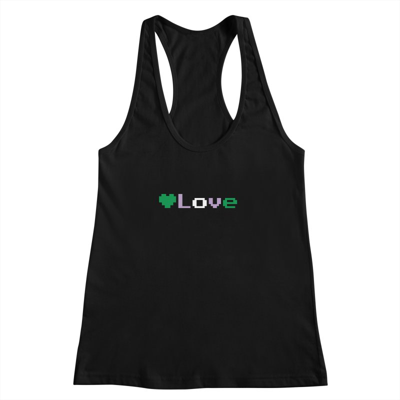 Genderqueer Love Women's Racerback Tank by Cory & Mike's Artist Shop