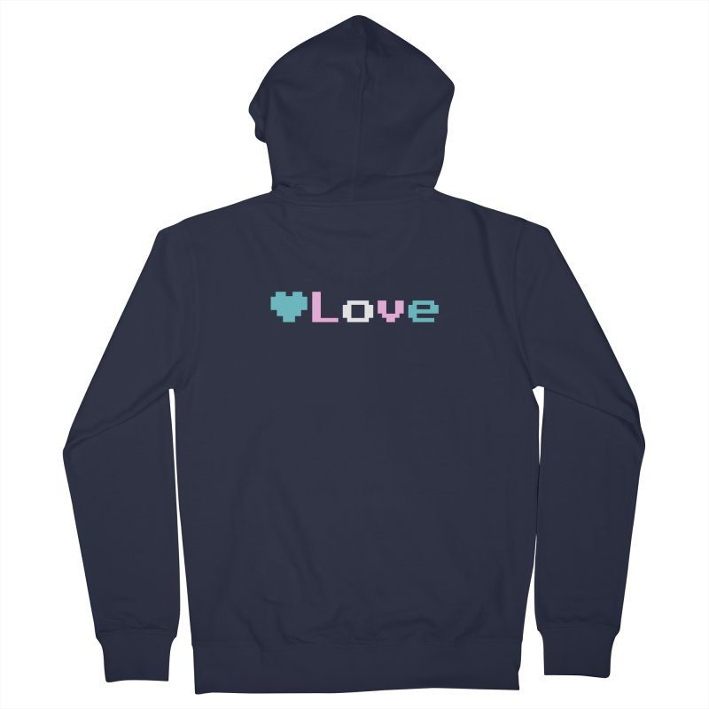 Trans Love Women's French Terry Zip-Up Hoody by Cory & Mike's Artist Shop