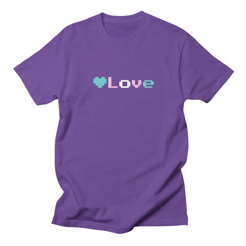 Trans Love Men's Regular T-Shirt by Cory & Mike's Artist Shop