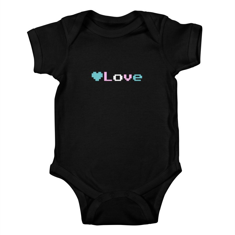 Trans Love Kids Baby Bodysuit by Cory & Mike's Artist Shop
