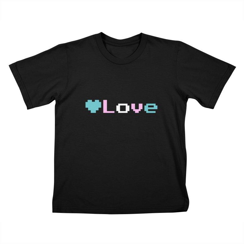 Trans Love Kids T-Shirt by Cory & Mike's Artist Shop