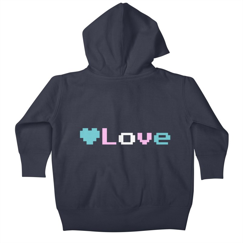 Trans Love Kids Baby Zip-Up Hoody by Cory & Mike's Artist Shop