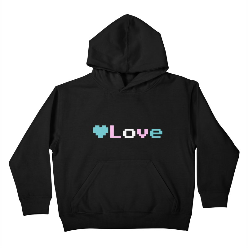 Trans Love Kids Pullover Hoody by Cory & Mike's Artist Shop