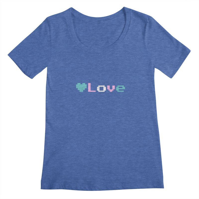 Trans Love Women's Regular Scoop Neck by Cory & Mike's Artist Shop