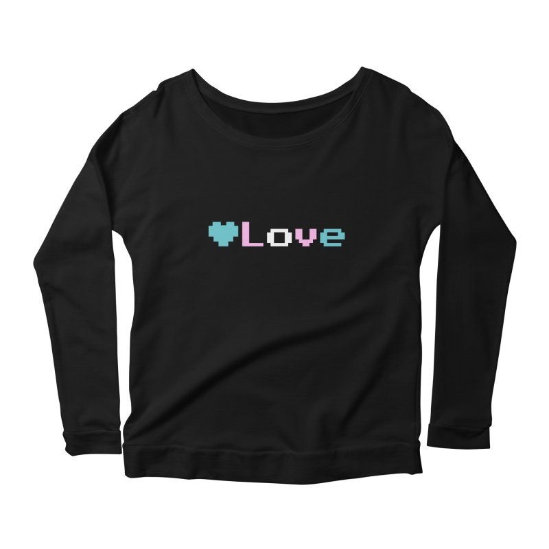 Trans Love Women's Scoop Neck Longsleeve T-Shirt by Cory & Mike's Artist Shop