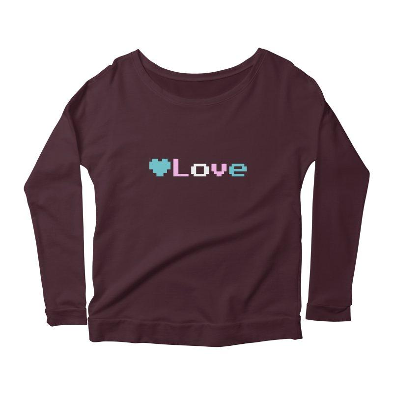 Trans Love Women's Scoop Neck Longsleeve T-Shirt by Cory & Mike's Artist Shop