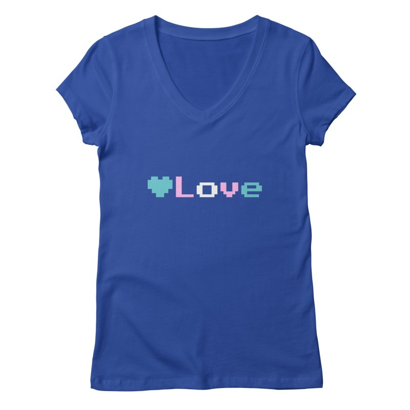 Trans Love Women's V-Neck by Cory & Mike's Artist Shop