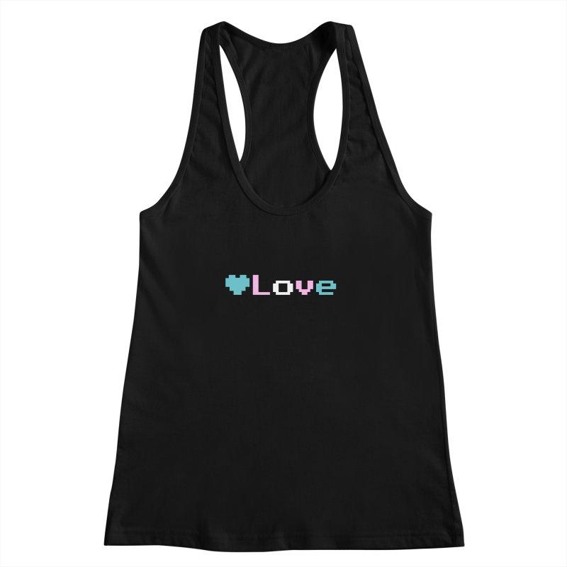 Trans Love Women's Racerback Tank by Cory & Mike's Artist Shop