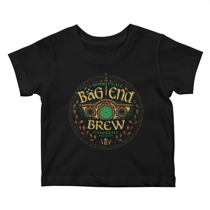 Bag End Brew Kids Baby T-Shirt by CoryFreemanDesign