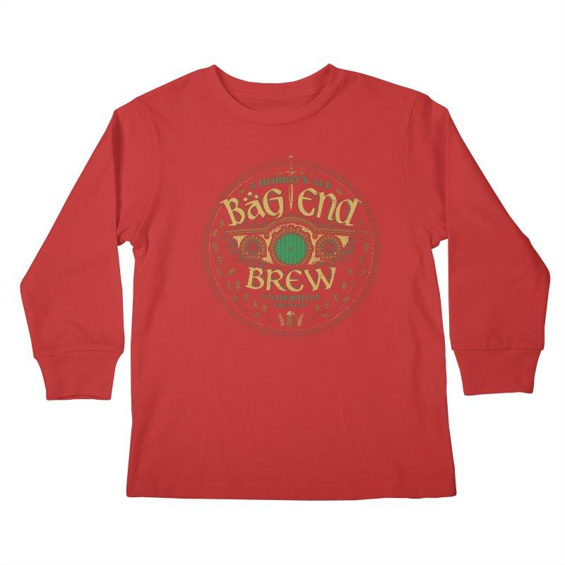 Bag End Brew Kids Longsleeve T-Shirt by CoryFreemanDesign