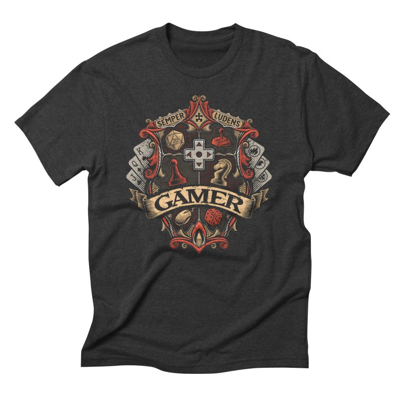 Gamer Crest Men's Triblend T-Shirt by CoryFreemanDesign