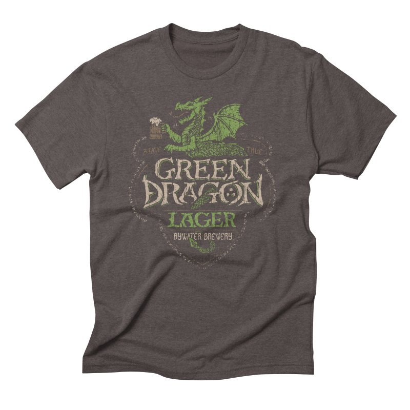 Green Dragon Lager Men's Triblend T-shirt by CoryFreemanDesign