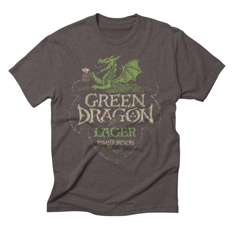 Green Dragon Lager Men's Triblend T-shirt by CoryFreemanDesign